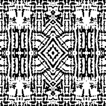 Black and white pattern seamless ornament Arabian Vector