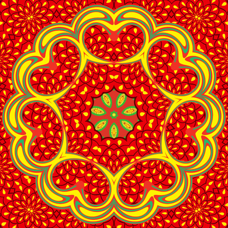 eps8: Abstract flower bright colorful, seamless background, EPS8 - vector graphics. Illustration