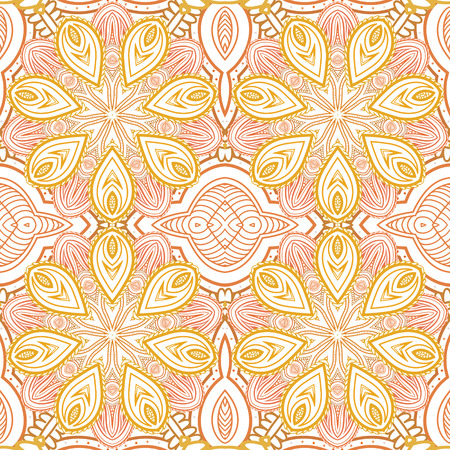 eps8: Abstract flower gentle, seamless ornament, EPS8 - vector graphics. Illustration
