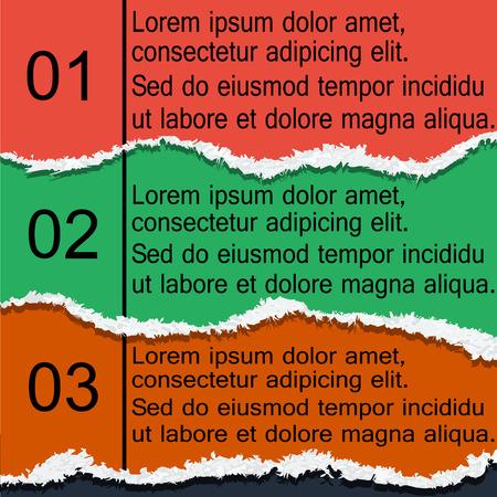 eps8: Torn paper infographics, modern design, EPS8 - vector graphics. Illustration