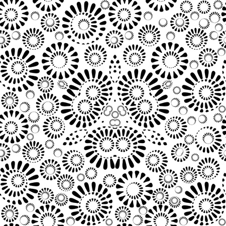 blackly: Geometrical blackly white seamless pattern, EPS8 - vector graphics.