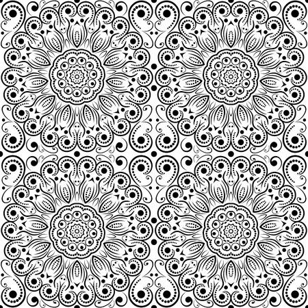 openwork: Abstract flower openwork seamless pattern, EPS8 - vector graphics.