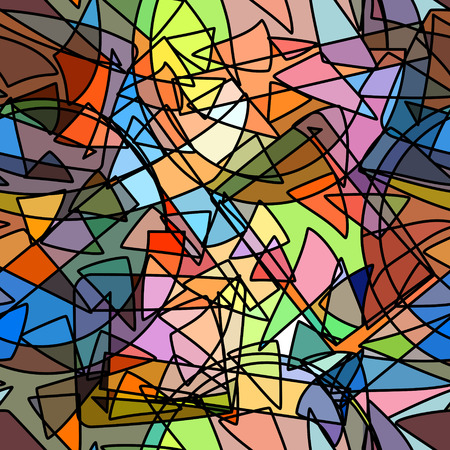 eps8: Abstract seamless background stained-glass style imitation, EPS8 - vector graphics. Illustration