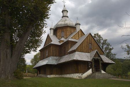 old wood orthodox church in Poland - Europe Stock Photo