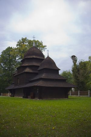 orthodox church: old wood orthodox church in Poland - Europe Stock Photo