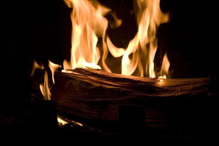 wood heating: Burn, fire, fireplace, fireside, fire-wood, house, heating, start, warm, warming, winter, wood, Stock Photo