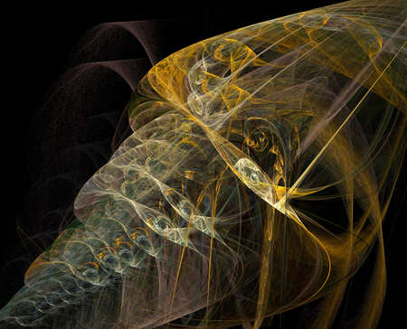 iterative: Abstract artificial computer generated iterative flame fractal art image Stock Photo