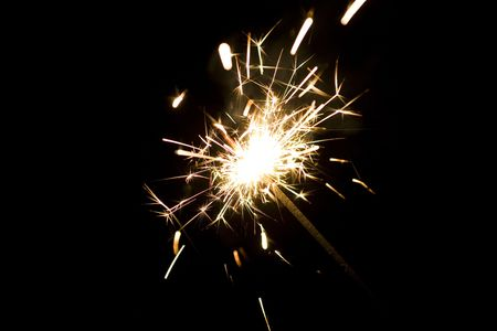 Close up of lit up sparkler Stock Photo - 4077142