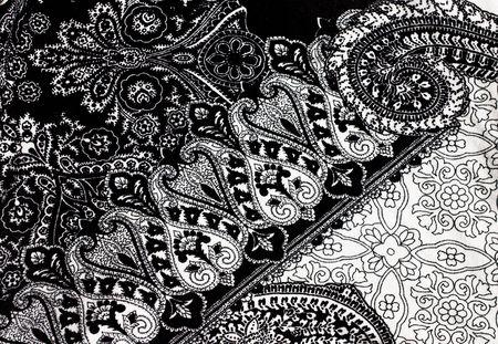 Monochrome seamless damask pattern. Nice to use as background.