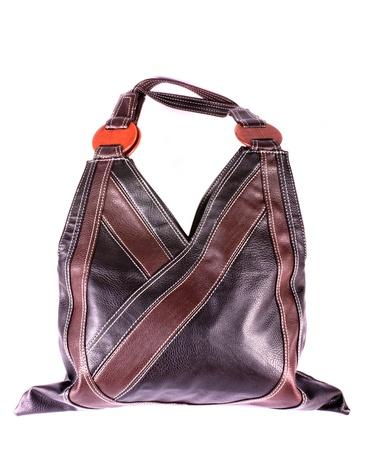 Modern design fashionable handbag isolated on white background photo