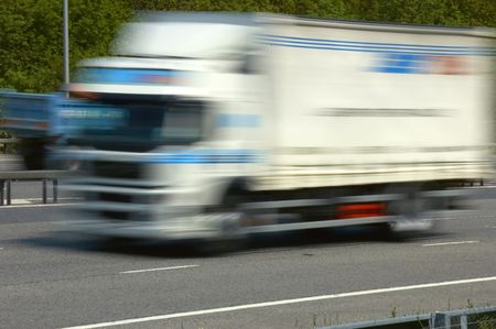 lorry going fast
