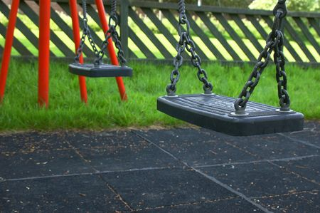 more mature: empty swings