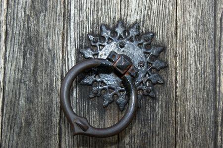 unyielding: Door knocker on a church door