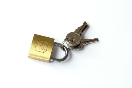 closed community: Padlock and keys