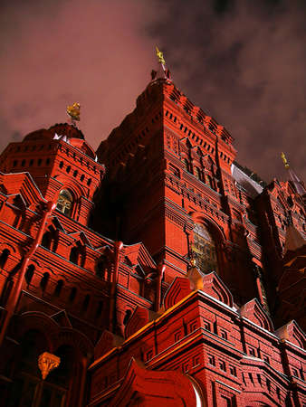Fragment of a building of the Historical museum in Moscow (Russia), a former building of the State Duma (parliament) Stock Photo - 415774