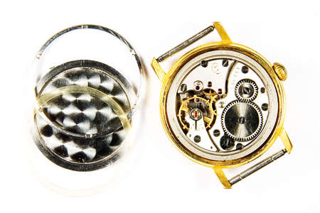 Old mechanical watchs photo