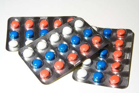 Vitamine multi-colorati  Archivio Fotografico