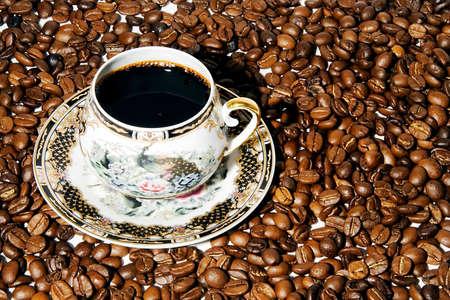 slurp: Taza de caf� en granos de caf�