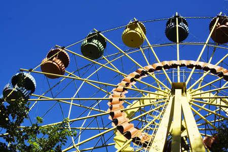 daredevil: Attraction a big wheel Stock Photo