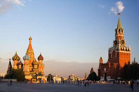 La zona rossa a Mosca in serata