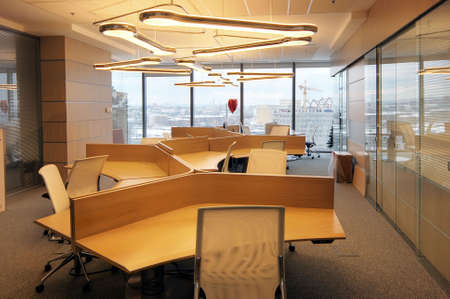 Demonstration interior of office in a new business centre of Moscow -