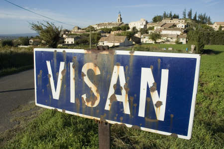 enclave: VISAN signpost Stock Photo