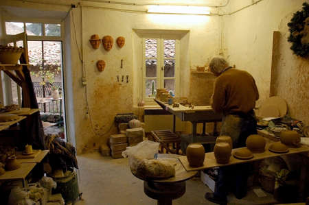 POTTERY and FAIENCE MANUFACTURE of BRANTES VAUCLUSE  Stock Photo