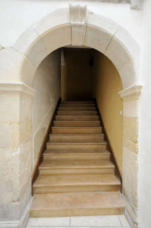enclave: staircase in stone Stock Photo