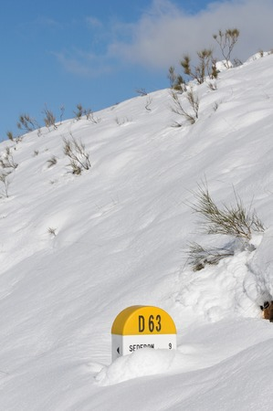 milepost: milestone in the snow