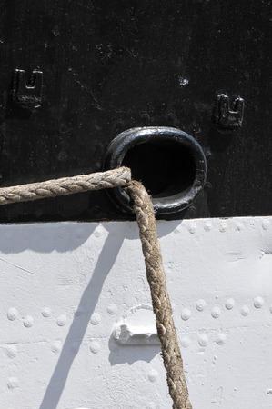Black and white hull Stock Photo