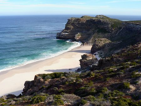 cape of good hope: Diaz Beach and Cape Maclear near the Cape of Good Hope and Cape Point, Cape Town, South Africa. Stock Photo