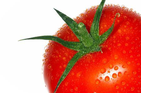 fruitage: Red tomato. Isolated over white background  Stock Photo