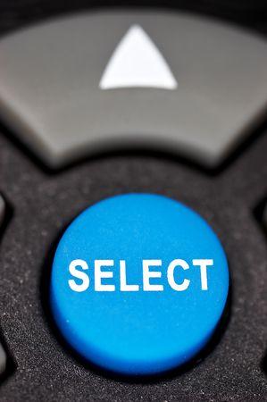 button Select. Close up.  photo