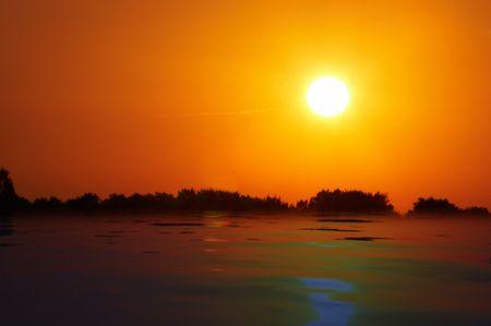 render: Sunset. Render