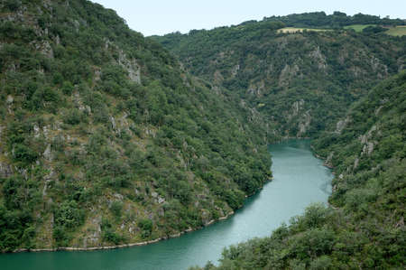 tarn: A section of Les Raspes on the tarn river in aveyron, south west of france - Tarn Valley -Vallee du Tarn