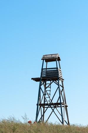 watchtower: wooden watchtower Stock Photo