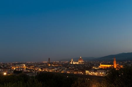 Early Morning view of Duomo Santa Maria Del Fiore and Florence photo