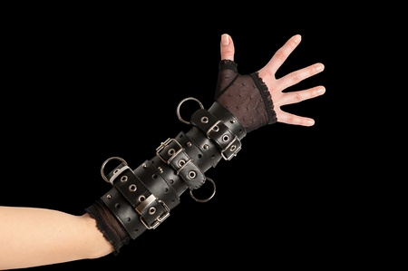 restraining device: Hand in Leather bracelets