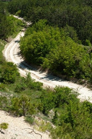 unpaved road: Winding Unpaved Road