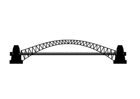 worked: Silhouette of Bridge
