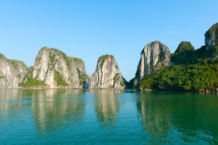 long bay: Ha Long Bay in Vietnam Stock Photo