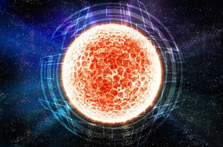 fireball: Abstract fireball planet
