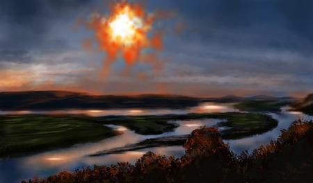 stalker: Landscape Sun in sky stalker theme