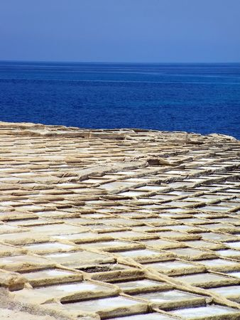 Malta Saltpans Stock Photo