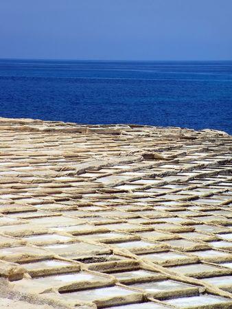 Malta Saltpans Stock Photo