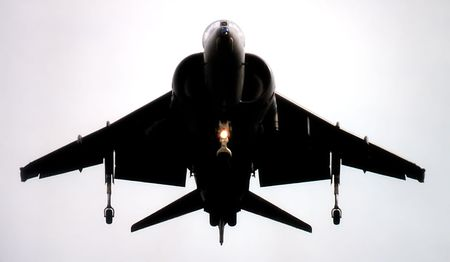 subdue: Fighter Jet Stock Photo