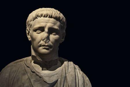 spqr: Un aut�ntico m�rmol romano del emperador romano Claudio desde 1er siglo d. C. Julio-Claudia dinast�a  Foto de archivo