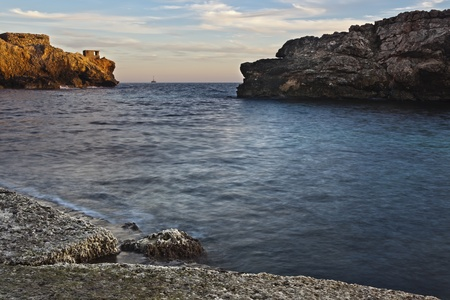 potentially: The discovery of crude fuel oil has always been a distant dream for Malta, its Government and its inhabitants.  Striking oil in this potentially fuel-rich part of the Mediterranean Sea would give the island a new economic era... But on the other hand, an  Stock Photo