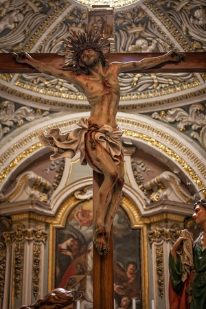 One of the Good Friday statues at the Ta' Giezu Church in Valletta
