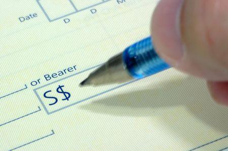 recompense: Writing Cheque